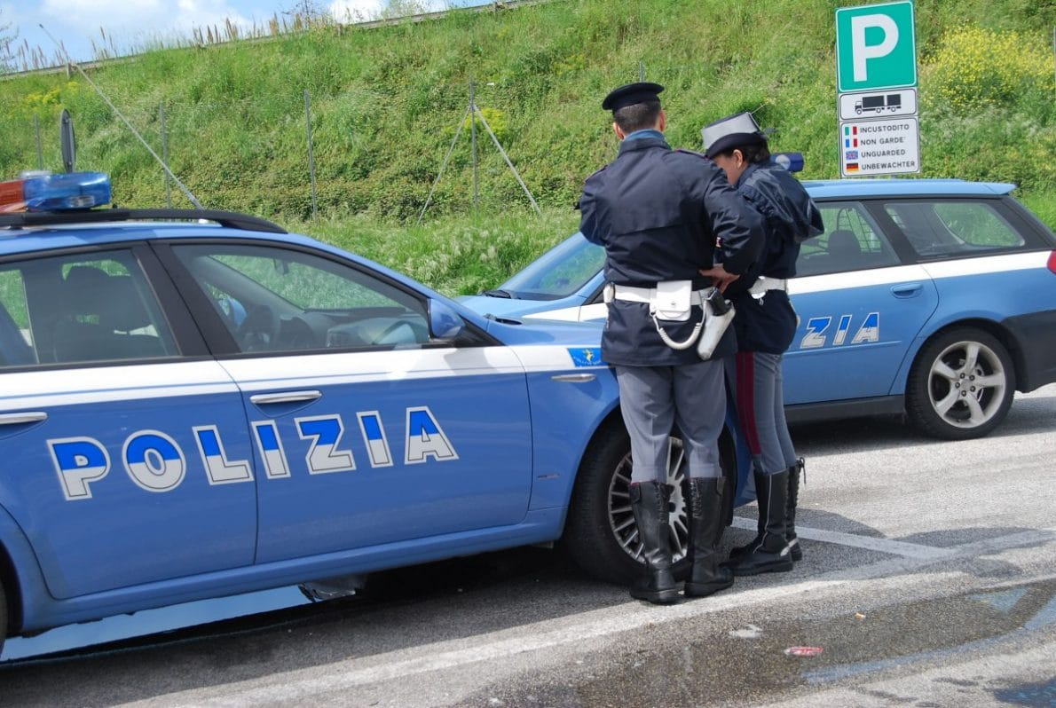 polizia, incidente stradale