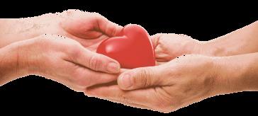 Mani scambiano cuore