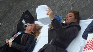 Barbara Benedettelli, Manifestazione #iononcisto