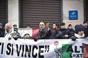 Barbara Benedettelli - Manifestazione per le Vittime dei suicidi economici
